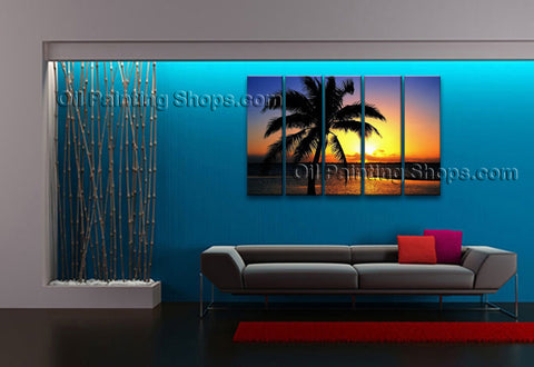 Large Contemporary Wall Art Seascape Painting Hawaii Beach Oil Paintings