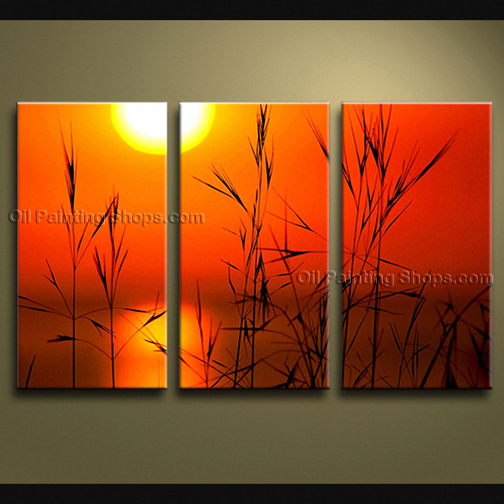 Stunning Contemporary Wall Art Seascape Painting Sunset Gallery Wrapped
