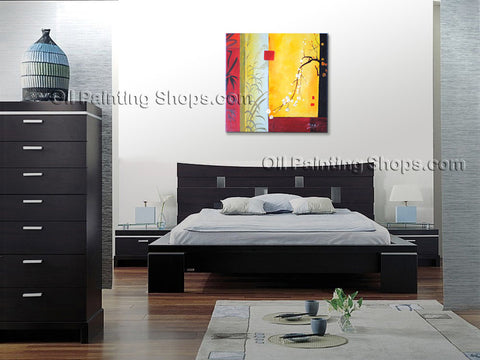 Handmade Elegant Contemporary Wall Art Floral Painting Decoration Ideas