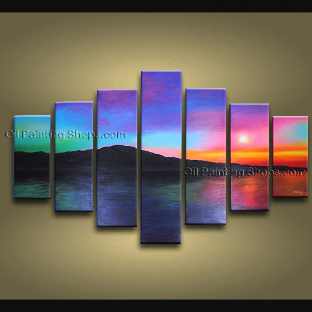 X Huge Contemporary Wall Art Seascape Painting Beach Oil Paintings