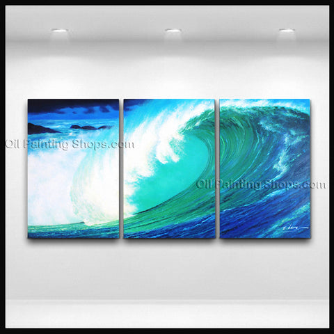 Beautiful Contemporary Wall Art Seascape Painting Beach Sunset Scenery
