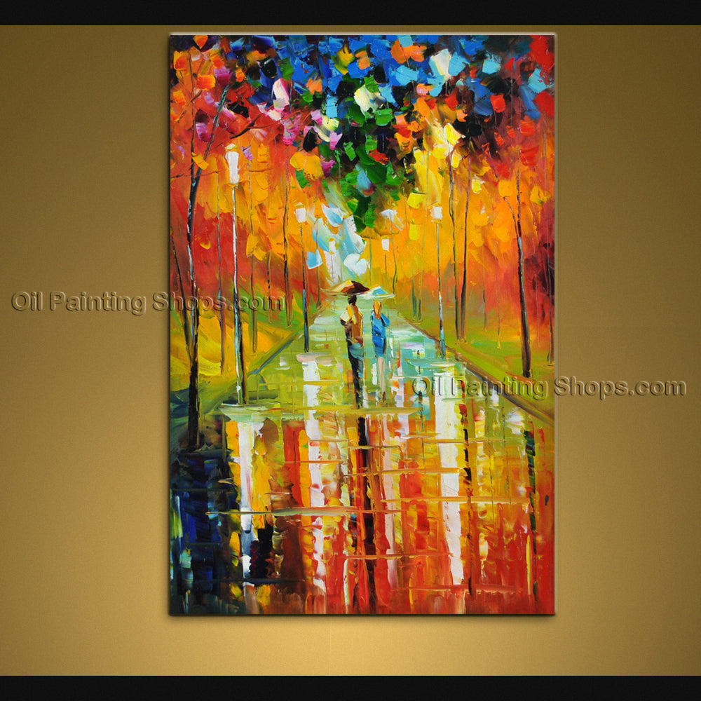 Stunning Contemporary Wall Art Landscape Painting Contemporary Decor