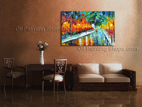 Elegant Contemporary Wall Art Landscape Painting On Canvas Artworks