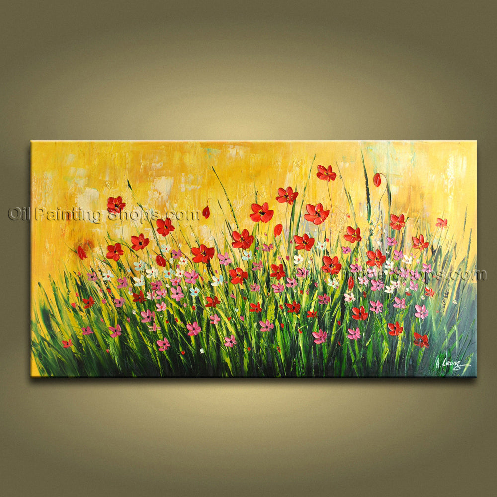 Handmade Stunning Contemporary Wall Art Floral Painting Contemporary Decor