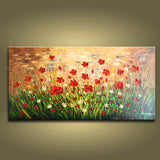 Astonishing Contemporary Wall Art Floral Painting Flower Gallery Wrapped