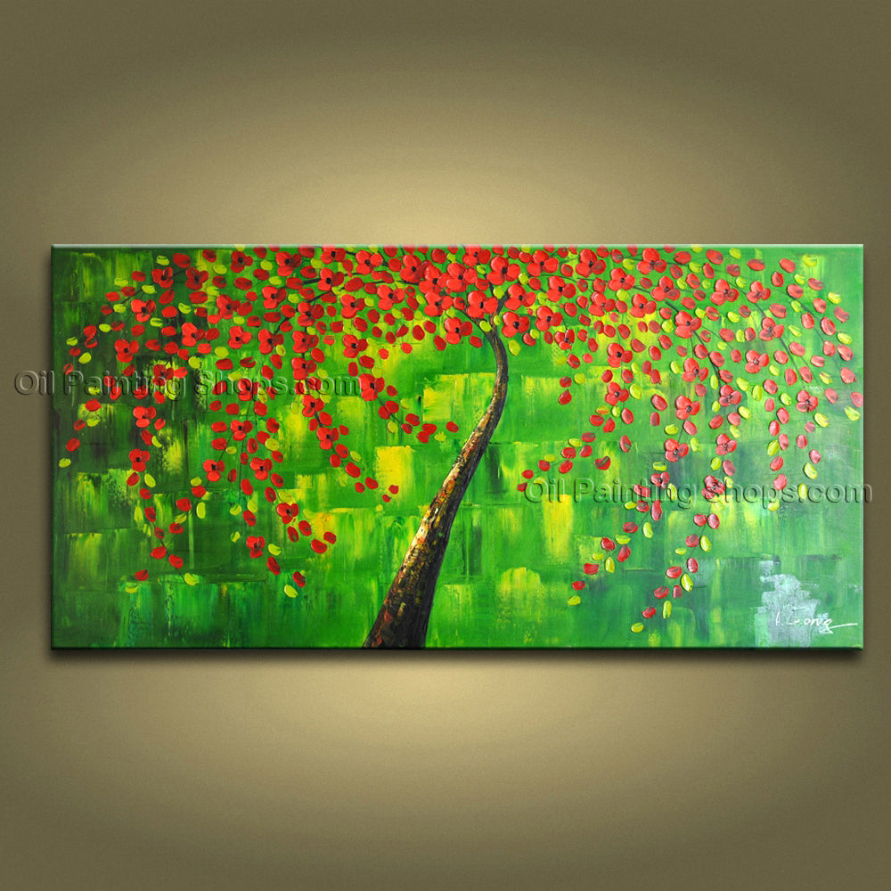 Beautiful Contemporary Wall Art Floral Painting Canvas Contemporary Decor