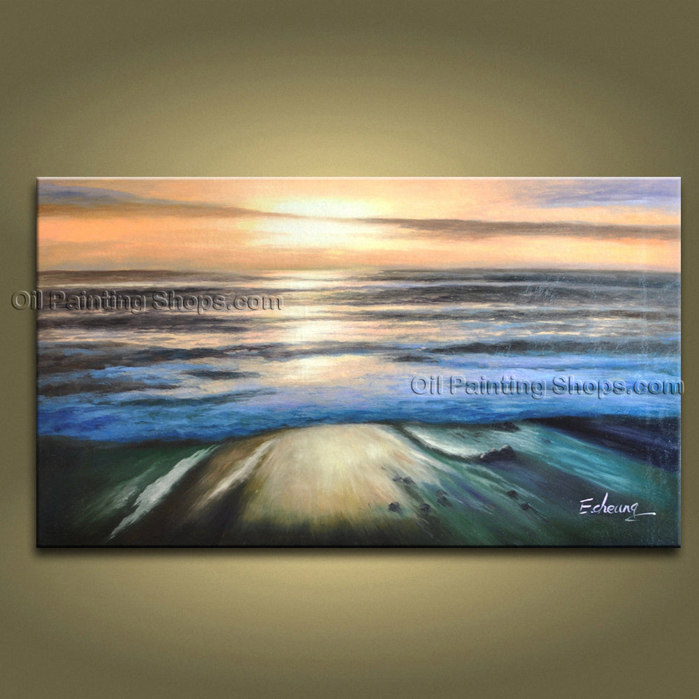 Handmade Amazing Contemporary Wall Art Seascape Painting Ocean Paintings