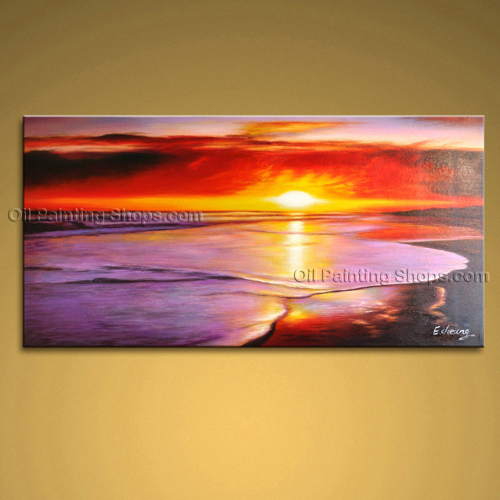 Handmade Astonishing Contemporary Wall Art Seascape Painting Canvas Art