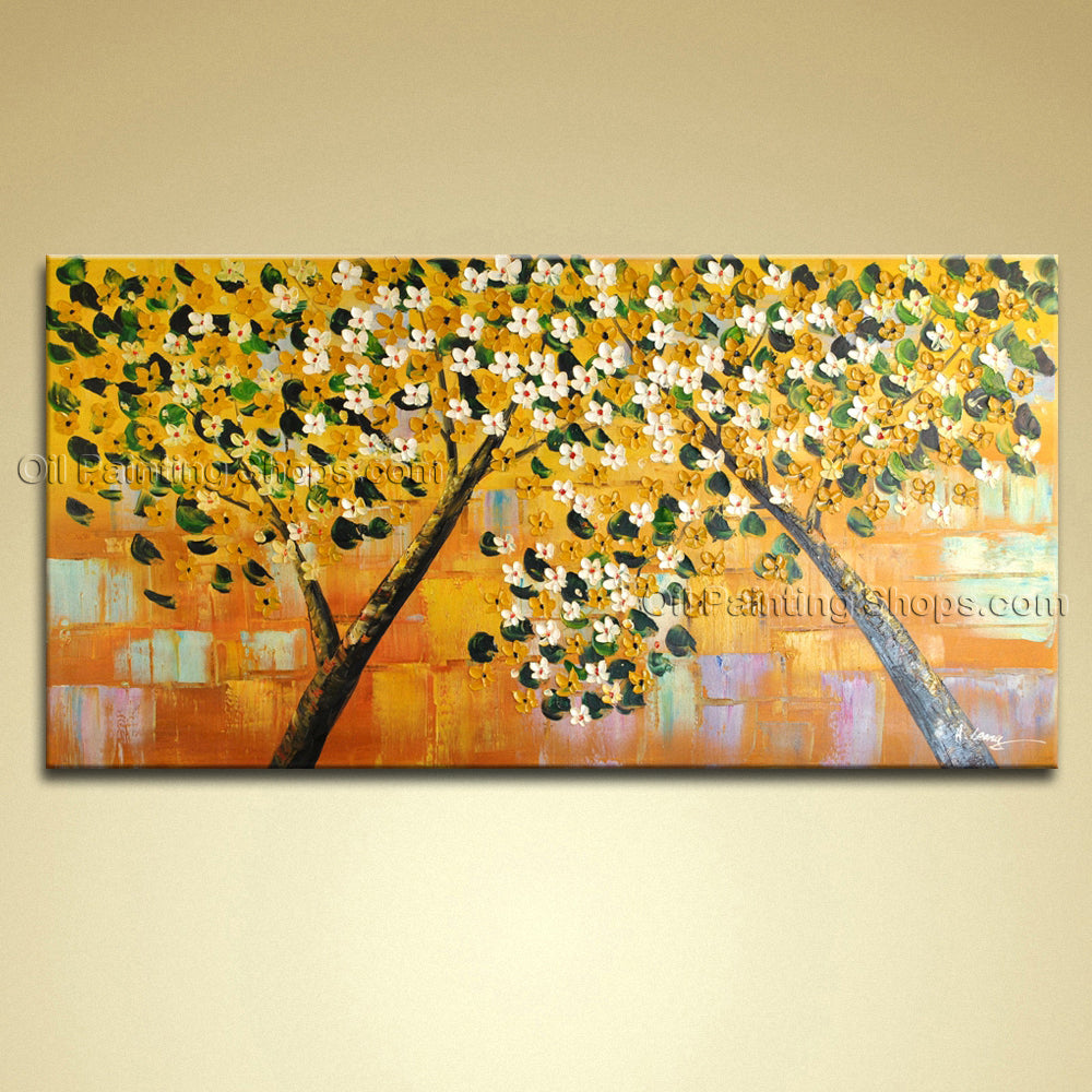 Beautiful Contemporary Wall Art Landscape Painting Tree Landscape Scene