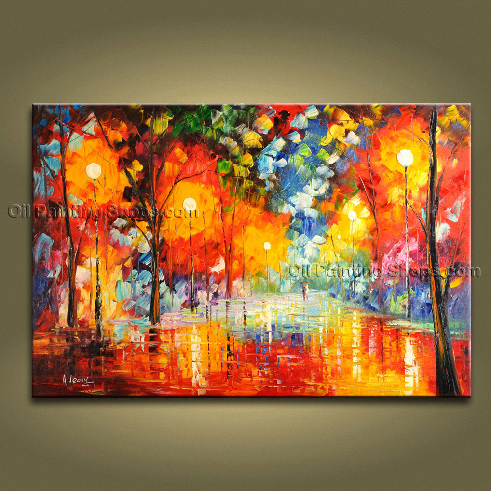 Handmade Stunning Contemporary Wall Art Landscape Painting Inner Framed