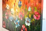 Elegant Contemporary Wall Art Floral Painting Poppy Decoration Ideas