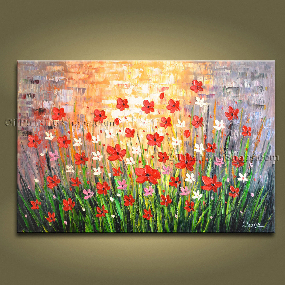 Astonishing Contemporary Wall Art Floral Painting Flower Paintings