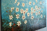 Hand-painted Elegant Contemporary Wall Art Floral Painting Flowers Artwork