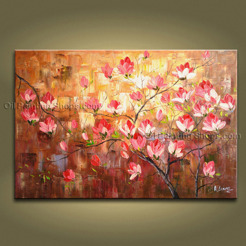 Stunning Contemporary Wall Art Floral Painting Tulip Flower On Canvas