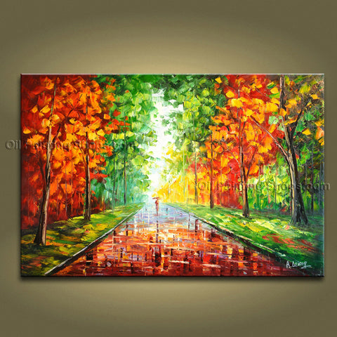 Stunning Contemporary Wall Art Landscape Painting Park On Canvas Artworks