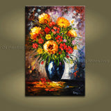 Handmade Beautiful Contemporary Wall Art Floral Painting Flower Pictures