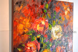 Hand Painted Amazing Contemporary Wall Art Floral Painting Flowers Artwork