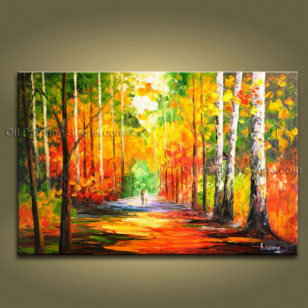 Astonishing Contemporary Wall Art Landscape Painting Park Artist Artworks