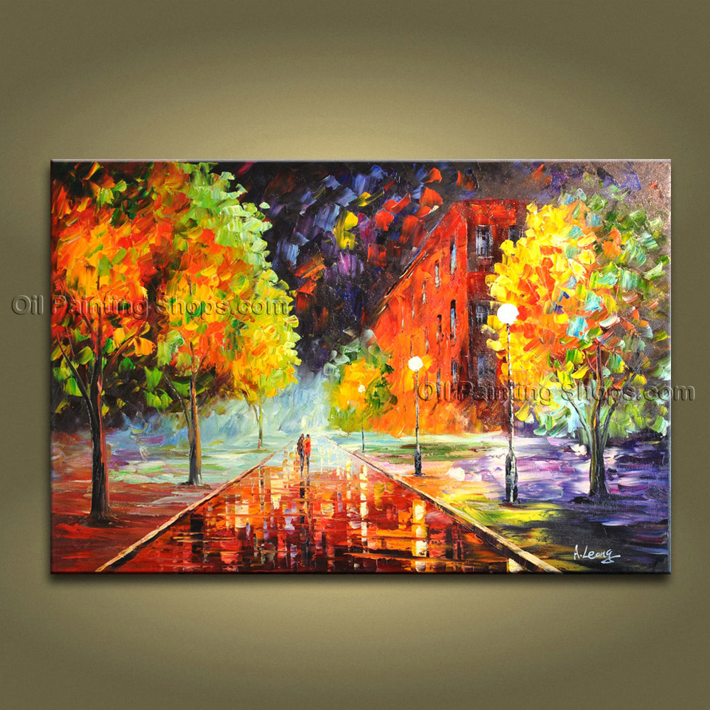 Handmade Amazing Contemporary Wall Art Landscape Painting Oil On Canvas