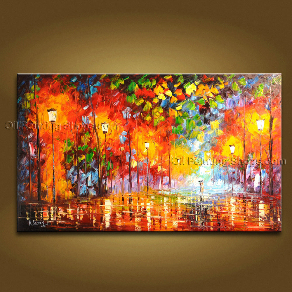 Handmade Amazing Contemporary Wall Art Landscape Painting Decoration Ideas