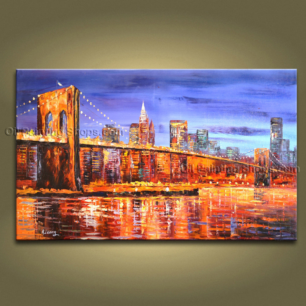 Elegant Contemporary Wall Art Landscape Painting Contemporary Decor