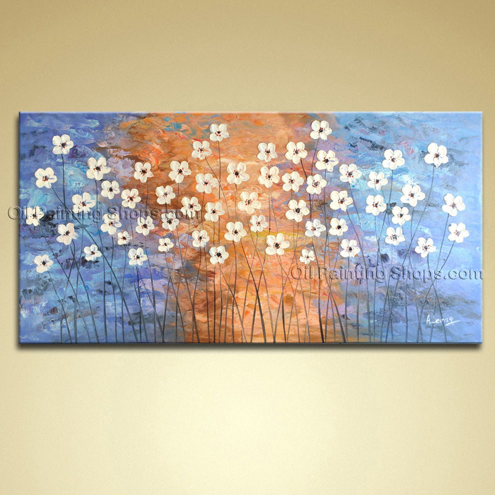 Handmade Beautiful Contemporary Wall Art Floral Painting Flower Paintings