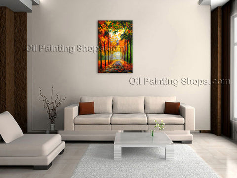 Amazing Contemporary Wall Art Landscape Painting Park Interior Design