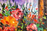 Beautiful Contemporary Wall Art Floral Painting Flower Inner Framed