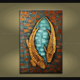 Astonishing Feng Shui Zen Art Contemporary Painting Koi Fish Oil On Canvas