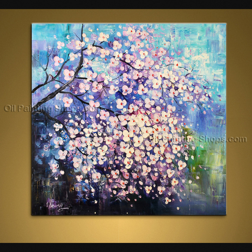 Astonishing Contemporary Wall Art Floral Painting Flower Oil Canvas