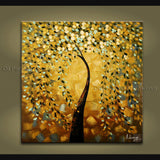 Astonishing Contemporary Wall Art Landscape Painting Tree Decoration Ideas
