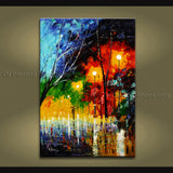 Beautiful Contemporary Wall Art Landscape Painting Inner Stretched