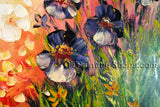 Amazing Contemporary Wall Art Floral Painting Poppy Flowers Artwork