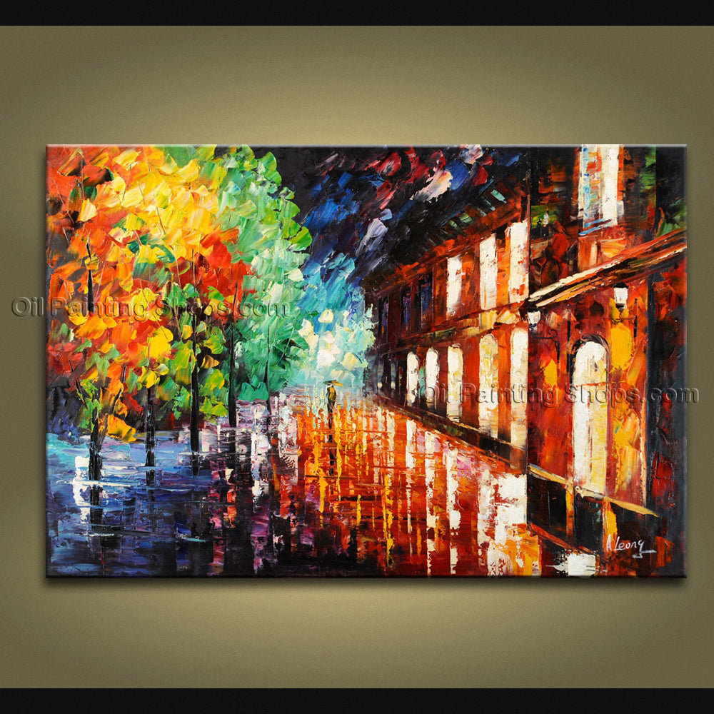 Handmade Amazing Contemporary Wall Art Landscape Painting Ready To Hang