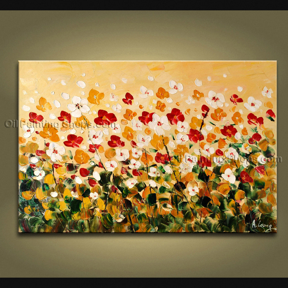 Astonishing Contemporary Wall Art Floral Painting Contemporary Decor
