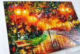 Handmade Beautiful Contemporary Wall Art Landscape Painting Inner Framed
