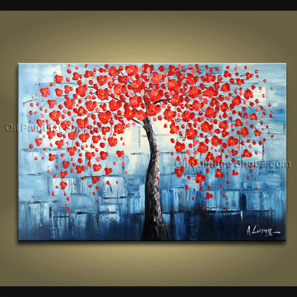 Elegant Contemporary Wall Art Landscape Painting Tree Gallery Wrapped