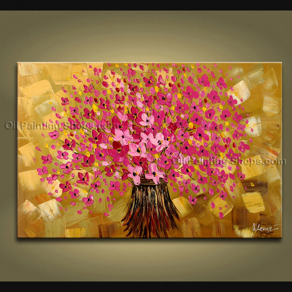 Amazing Contemporary Wall Art Landscape Painting Tree Inner Stretched