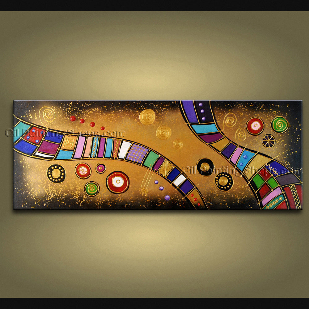 Hand Painted Amazing Modern Abstract Painting Wall Art Inner Framed