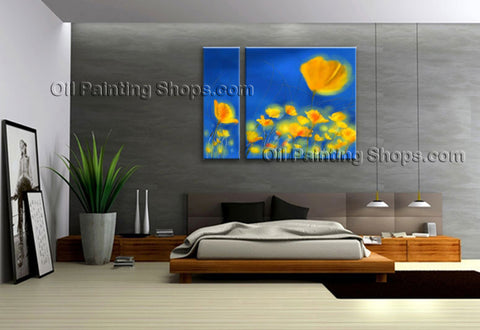 Handmade Elegant Contemporary Wall Art Floral Painting Flower Oil Canvas