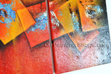 Hand Painted Stunning Modern Abstract Painting Wall Art Inner Stretched