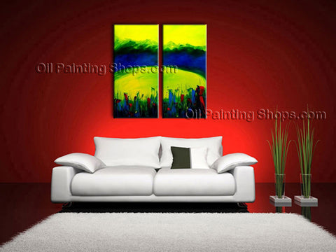 Handmade Astonishing Modern Abstract Painting Wall Art Decoration Ideas