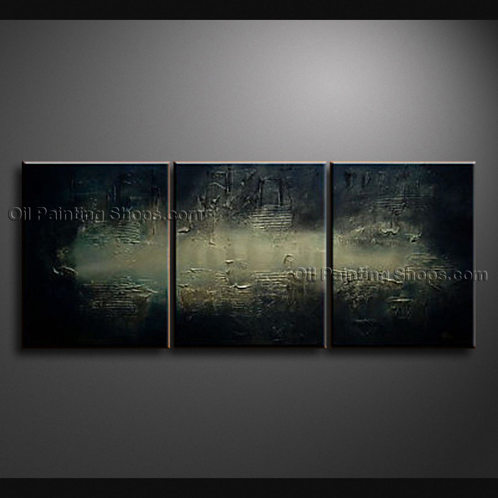 Hand-painted Triptych Modern Abstract Painting Wall Art Decoration Ideas