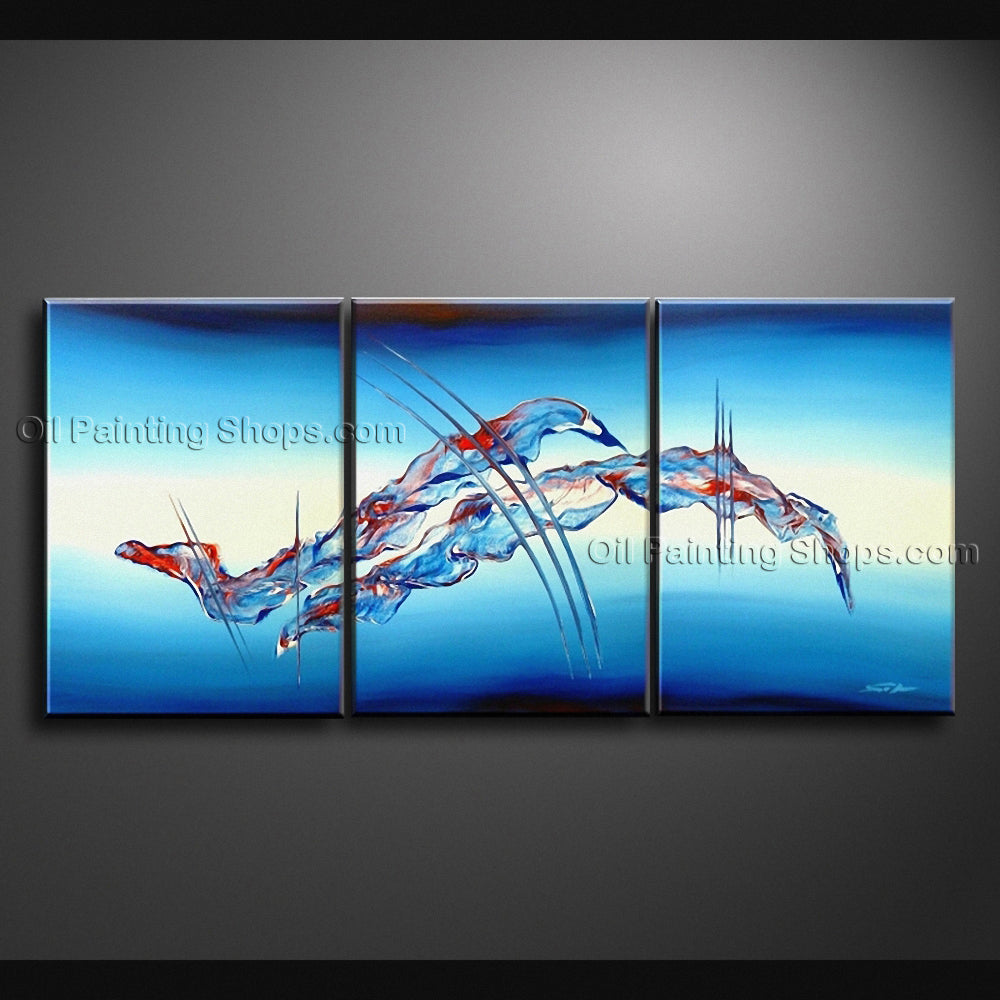 Hand Painted Triptych Modern Abstract Painting Wall Art Artwork Images