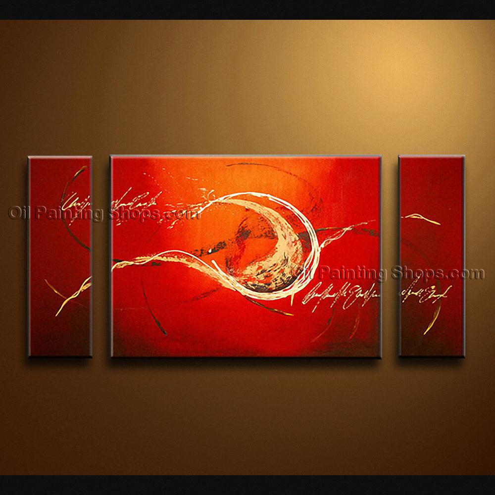 Hand-painted Triptych Modern Abstract Painting Wall Art Artwork Images