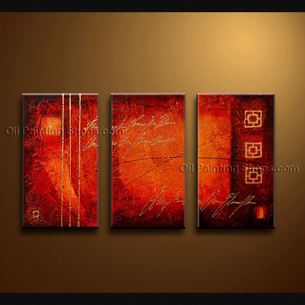 Hand-painted Elegant Modern Abstract Painting Wall Art Inner Framed