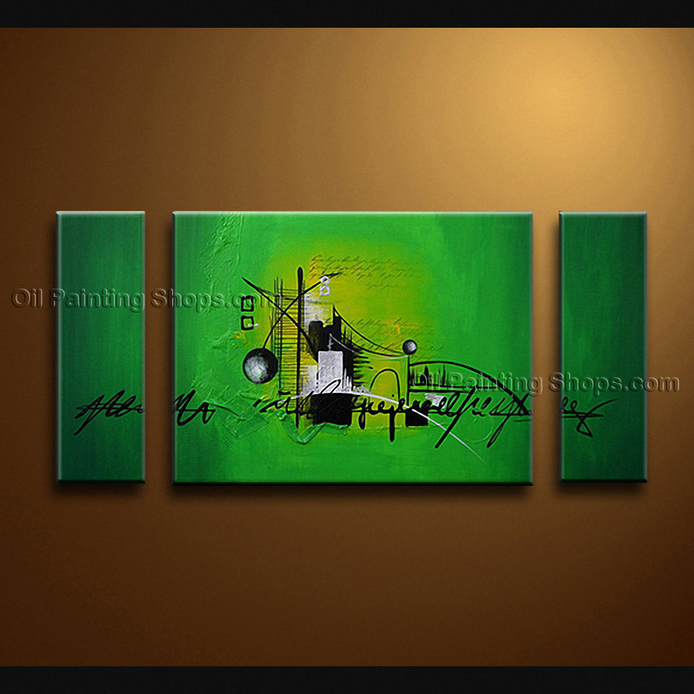 Hand Painted Triptych Modern Abstract Painting Wall Art On Canvas Artworks