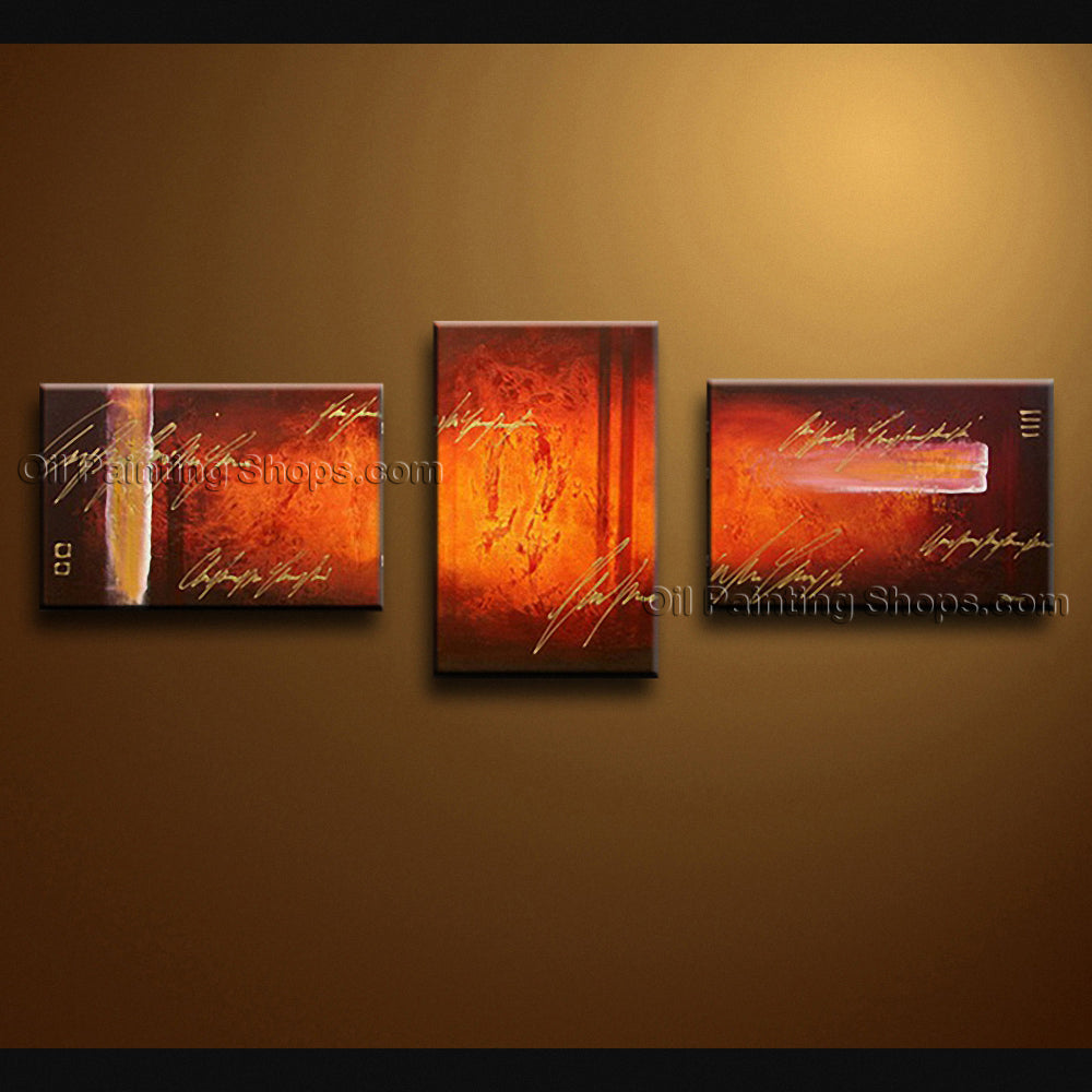 Hand-painted Triptych Modern Abstract Painting Wall Art Contemporary Decor