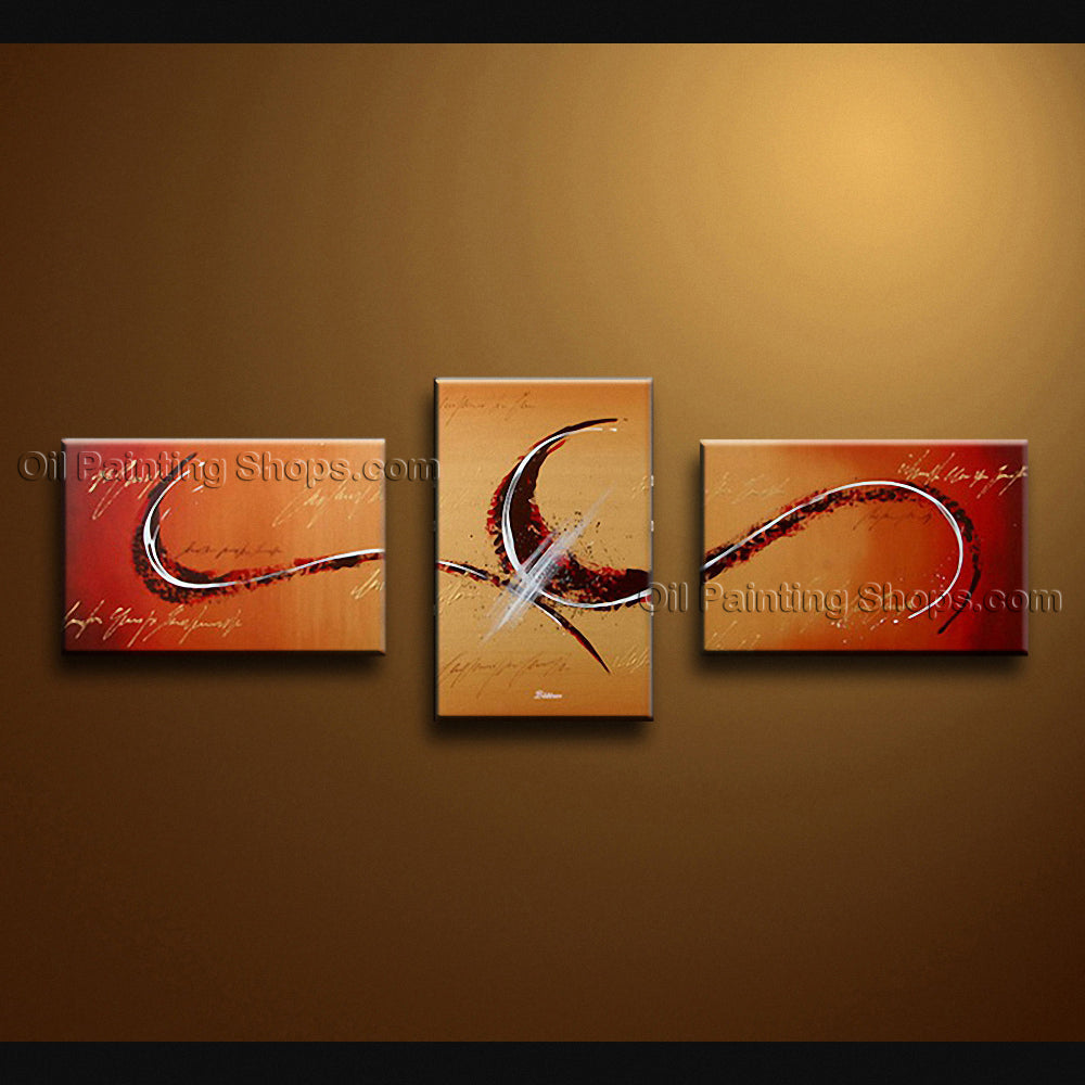 Hand-painted Triptych Modern Abstract Painting Wall Art Artwork Pictures