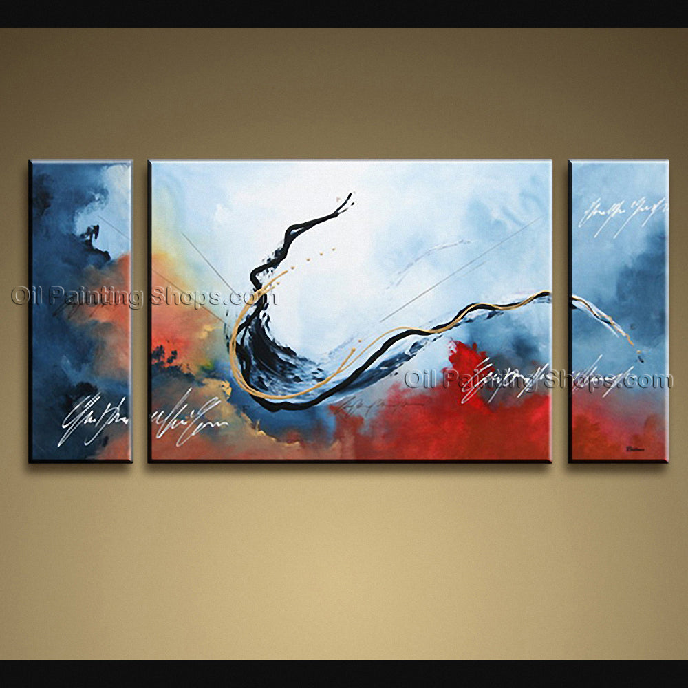 Hand painted elegant modern abstract painting wall art artist artworks oil painting shops